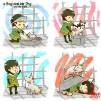Marvel: A boy and his dog #3 by nowwheresmynut