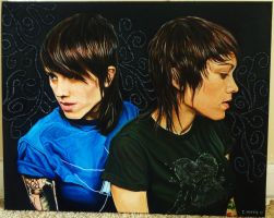 Tegan and Sara Oil Painting by ClMorris