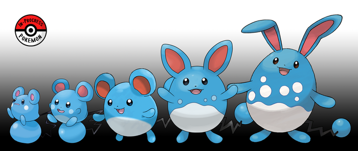 298 - 184 Marill Line by InProgressPokemon