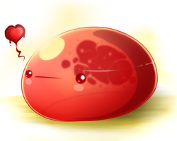 OC - Little Red Slime by Angelo-XD