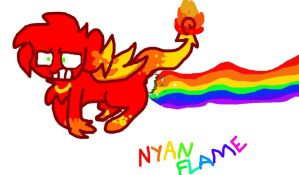 Nyan Flame by Kassy1011