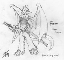Firon Draak - Dragon Samurai by Krahos-Emberwing