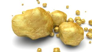 Cinema 4D -- Gold ore by SMOKEYoriginalHD