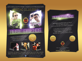 Music Friends Flyer by noisekick91
