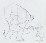 Hulking with Donald WIP by Cassidy-Morgan