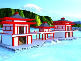 3D Japanese Shrine by RazorICE