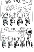 Bike race by Lilyfer
