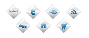 Shiny White Website Icons by sdhardie