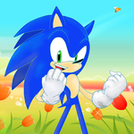 Sonic and  Flowers) by MauriceOlgilvia