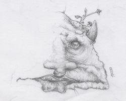 Left-Handed drawing of a troll by Morganne
