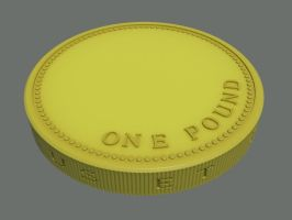 1pound Coin - WIP by rocneasta