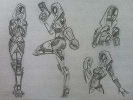 sketches Tali (32) by spaceMAXmarine