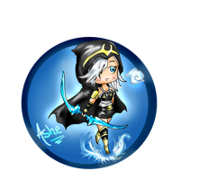 Chibi League Ashe by awisha-teh-ninja
