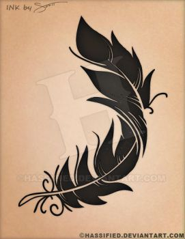 Feather Tattoo Design by hassified