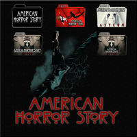 American Horror Story folder icons: S1-S3 by F0l13aD3ux