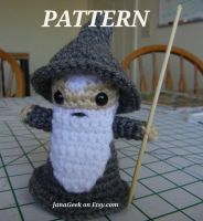 Crochet Pattern for Gandalf the Gray Amigurumi by janageek