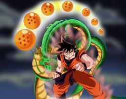 Son Goku my 100th drawing by POLYKRPIO