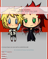 Roxas and axel journal skin by frostmarine