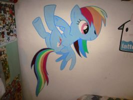 Raimbowdash Murale by pizzaplanet