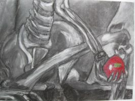 Skeleton holding an Apple by WeaselTea