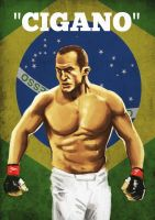 Junior 'cigano' dos santos by Mleeg-Art