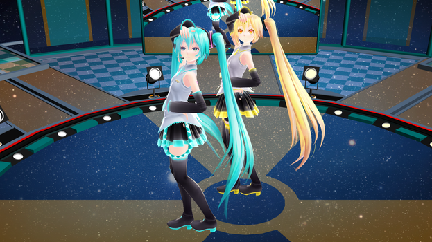 [MMD] Next Stage -- Miku and Neru Video by Reineru-kun
