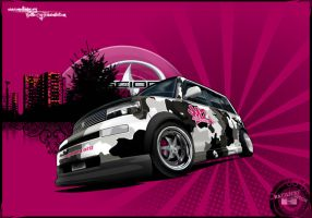Scion xB-CamouflageCar-Toon BC by Battle-Cry-TR