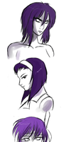 I like girls with purple hair by Raikoh-illust