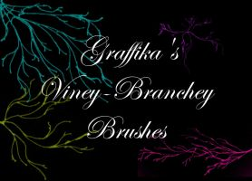 Viney-Branchey Brushes by graffika