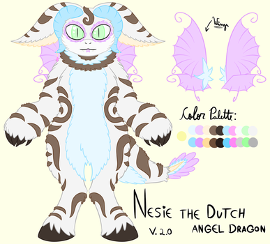 Nesie the Dutch Angel Dragon - v. 2.0 by Thaina-Zanello