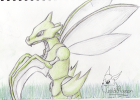 A scyther by GoldFlareon