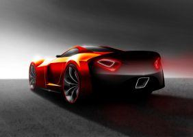Dodge-RT-R concept, rear view by Morfiuss