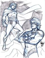 WARLOCK and MAR-VELL by Wieringo