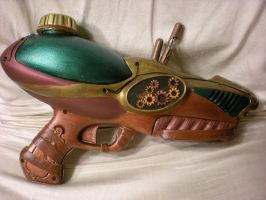 Green Steampunk Gun by StudioSandM