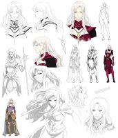 Cassiea character design by cyke40
