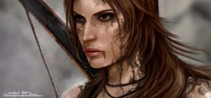 DIRTY LARA CROFT by amirulhafiz