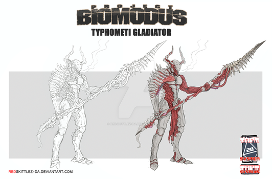 Project Biomodus: Typhometi Gladiator by RedSkittlez-DA
