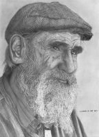 Old Man Pencil Portrait (Reupload) by chong-yi