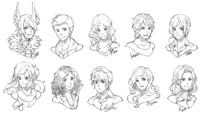 Headshots batch IV by crys-art