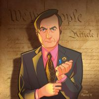 Saul Goodman caricature by TomMartinArt