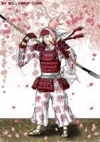 Samurai Sakura -Preview Colored Sketch- by Bollybauf-chan