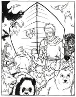 Noah with the Animals by iluvobiwan91