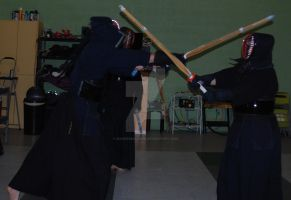 Kendo training, candid 1 by Rangerbaldwin