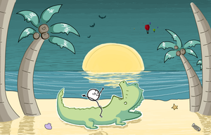 Me and the Alligator by Passionate-Cycle