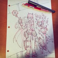 Commision: Batgirl - Linearts by RobDuenas