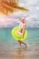 Sheryl Nome on the beach by Yui-Lang
