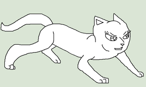 Crouching Female Cat by skyclan199