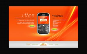 Ufone website layout by zaib