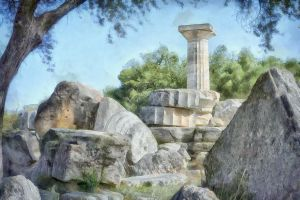 The ruins of Olympia by rhipster