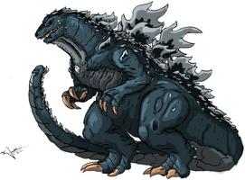 Godzilla by absoluteweapon